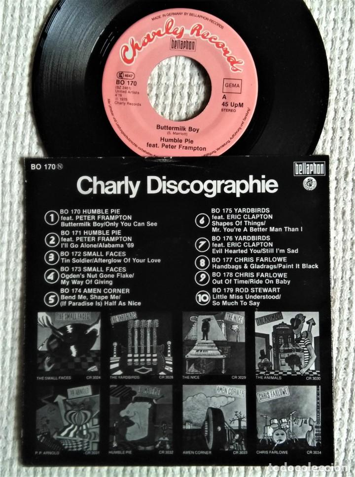 "Discos de vinilo: HUMBLE PIE FEAT. PETER FRAMPTON - "" BUTTERMILK BOY + 1 "" SINGLE 7"" GERMANY 1975 - Foto 2 - 218748861"