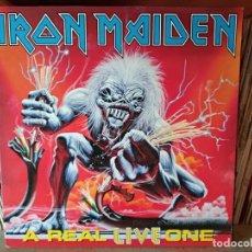 Discos de vinilo: IRON MAIDEN ?– A REAL LIVE ONE. Lote 218750542