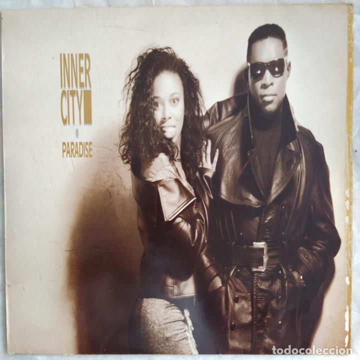 INNER CITY - PARADISE (LP, ALBUM) (10 RECORDS, VIRGIN) DIX81 (D:VG+) (Música - Discos - LP Vinilo - Techno, Trance y House)