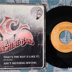 Discos de vinilo: SINGLE K.C. & THE SUNSHINE BAND - ¡UNICO ENVIO A FINAL DE MES!. Lote 218771511