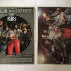 Discos de vinilo: KISS-ROCK SAGAS-2 PICTURE SINGLE LIMITED EDITION-1988-RARO Y DIFICIL-TROQUELADO INTACTO. Lote 218771932
