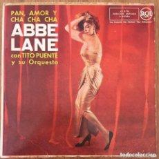 Discos de vinilo: ABBE LANE CON TITO PUENTE EP EDIC ESPAÑA 1958. Lote 218778121