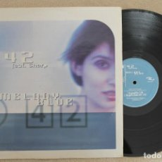 Discos de vinilo: MELODY BLUE T 42 FEAT SHARP MAXI SINGLE VINYL MADE IN ITALY 1999. Lote 218778128