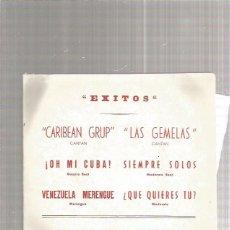 Discos de vinilo: CARIBEAN GRUP OH MI CUBA. Lote 218786056