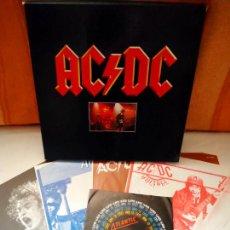 Discos de vinilo: CAJA AC/DC: 3 LP'S (HIGH VOLTAGE/ POWERAGE/ DIRTY DEEDS DONE DIRT CHEAP) + SINGLE + POSTER.. Lote 218787821