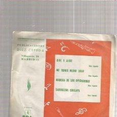 Discos de vinilo: DIAZ CEPEDA MARCHA DE LOS OPERADORES. Lote 218788046