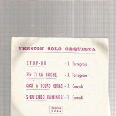 Discos de vinilo: TORREGROSA STOP 80. Lote 218788541