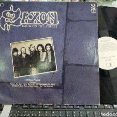 Discos de vinilo: SAXON DOBLE LP BACK ON THE STREET U.K. 1989 CARPETA DOBLE. Lote 218788657