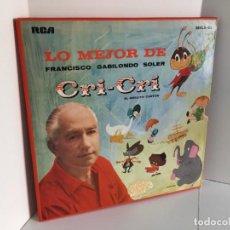 Discos de vinilo: LO MEJOR DE FRANCISCO GABILONDO SOLER. CRI - CRÍ. EL GRILLITO CANTOR. RCA. MKLA - 63. INCLUYE 3 LPS. Lote 218789200