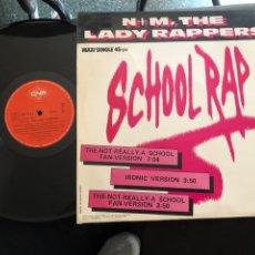 Discos de vinilo: N+M, THE LADY RAPPERS – SCHOOL RAP HIP HOP, DISCO. Lote 218790400