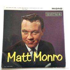 Discos de vinilo: MATT MONRO – MATT MONRO UK 1961 PARLOPHONE. Lote 218790850