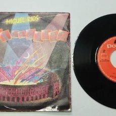 Discos de vinilo: 0920- MIGUEL RIOS ROCK EN EL RUEDO - VIN 7 SINGLE P G+ DIS G. Lote 218796267