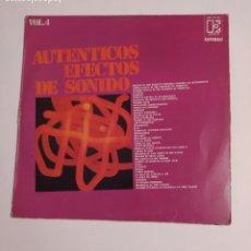 Discos de vinilo: AUTENTICOS EFECTOS DE SONIDO VOLUMEN 4. LP. TDKDA74. Lote 218797793