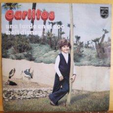 Discos de vinilo: CARLITOS - SINGLE - UNA TARDE EN EL ZOO - WALT DISNEY. Lote 218807083