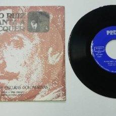 Discos de vinilo: 0920- PACO RUIZ CANTA A BECQUER - VIN 7 SINGLE P G DIS VG+. Lote 218808997