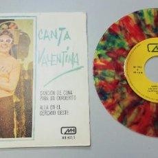 Discos de vinilo: 0920- CANTA VALENTINA - VIN 7 SINGLE P VG DIS NM. Lote 218809868