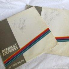 Discos de vinilo: 2 LPS VINILO ROCIO JURADO, CANCIONES ENTRAÑABLES, DEDICATORIA Y FIRMA ORIGINALES, RENAULT EXPRESS. Lote 218810468