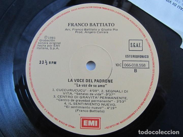 Discos de vinilo: LP viinlo Franco Battiato, la voz de su amo - Foto 4 - 218810903