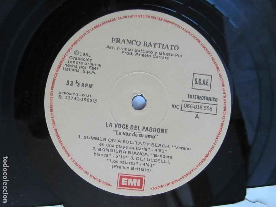 Discos de vinilo: LP viinlo Franco Battiato, la voz de su amo - Foto 5 - 218810903