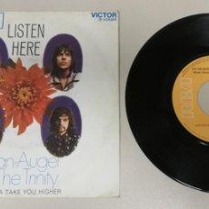 Discos de vinilo: 0920- BRIAN AUGER & THE TRINITY LISTEN HERE - VIN 7 SINGLE P G DIS VG. Lote 218821510
