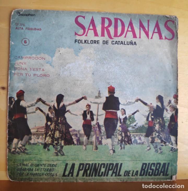 COBLA LA PRINCIPAL DE LA BISBAL - SINGLE - SARDANAS AÑOS 60 (Música - Discos - Singles Vinilo - Étnicas y Músicas del Mundo)