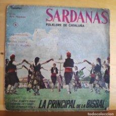 Discos de vinilo: COBLA LA PRINCIPAL DE LA BISBAL - SINGLE - SARDANAS AÑOS 60. Lote 218822831