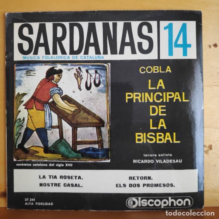 SARDANAS POR LA PRINCIPAL DE LA BISBAL - SINGLE - AÑOS 60 (Música - Discos - Singles Vinilo - Étnicas y Músicas del Mundo)