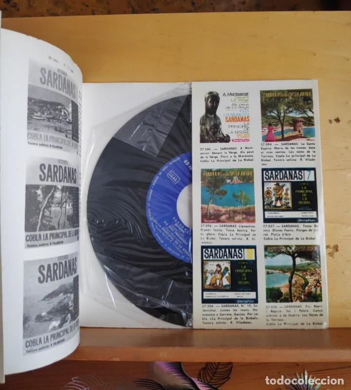 Discos de vinilo: SARDANAS POR LA PRINCIPAL DE LA BISBAL - SINGLE - AÑOS 60 - Foto 2 - 218822970