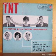 Discos de vinilo: LOS TNT - SINGLE - 5º FESTIVAL DE LA CANCION MEDITERRANEA. Lote 218824215