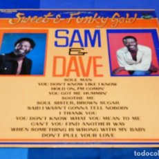 Discos de vinilo: CAJJ 81 LP FUNK SOUL USA 1978 SAM AND DAVE SWEET FUNKY GOLD INILO EN ESTADO CORRECTO. Lote 218825707