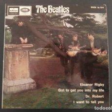 Discos de vinilo: THE BEATLES, ELEANOR RIGBY, +3 - EP 45 R.P.M.- DSOE 16.704 - 1966 - ODEON- EMI, ORIGINAL, 1ª EDICIÓN. Lote 218831552