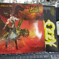 Discos de vinilo: OZZY OSBOURNE LP THE ULTIMATE SIN ESPAÑA 1986. Lote 218832551