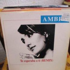 Discos de vinilo: AMBRA ?– TE ESPERABA A TÌ (REMIX). Lote 218832785