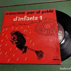 Discos de vinilo: CANÇONS PER AL POBLE D´INFANTS 1. EP DE . 1974 RF-1313 CATALAN. Lote 218834567