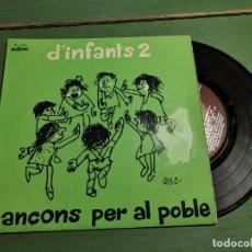 Discos de vinilo: CANÇONS PER AL POBLE D´INFANTS 2. EP DE . 1974 RF-1313 CATALAN. Lote 218834633