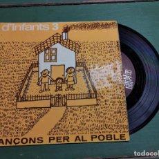 Discos de vinilo: CANÇONS PER AL POBLE D´INFANTS 3 EP DE . 1974 RF-1312 CATALAN. Lote 218834690
