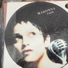 "Discos de vinilo: MADONNA - RAIN (12"", S/SIDED, PIC)1993.SIRE MAVERICK, WARNER BROS. WO190TP, 9362-40996-0.BUEN ESTADO. Lote 218835098"