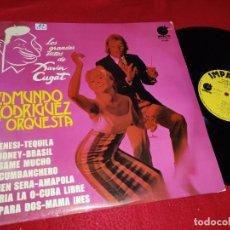Discos de vinilo: EDMUNDO RODRIGUEZ Y ORQUESTA LOS GRANDES EXITOS DE XAVIER CUGAT LP 1974 IMPACTO LATIN SPAIN. Lote 218835922