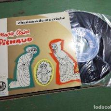 Discos de vinilo: MARIE CLAIRE PICHAUD ..CHANSONS DE MA CRECHE RELIGIOSA LITURGIA--SM 45-44. Lote 218836231