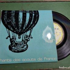Discos de vinilo: CHANTS DES SCOUTS FRANCE L´ AIR-------BOYS SCOUTS--AÑOS 50. Lote 218837486