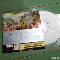 Discos de vinilo: L`ESCOLANIA DE MONTSERRAT***PEL SO I LA IMATGE**ESPAÑA MONUMENTAL I ARTISTICA. Lote 218837998
