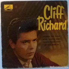 Discos de vinilo: CLIFF RICHARD. POINTED TOE SHOES/ MEAN WOMAN BLUES/ TWENTY FLIGHT ROCK/ AS TIME GOES BY. MASTERVOICE. Lote 218845371