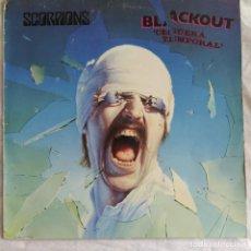 Discos de vinilo: SCORPIONS - BLACKOUT = CEGUERA TEMPORAL (LP, ALBUM) (1988, ES) (D:VG). Lote 218871490