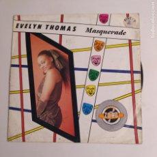 Discos de vinilo: EVELYN THOMAS - MASQUERADE - MAXI-SINGLE. TDKDA75. Lote 218872102