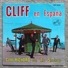 Discos de vinilo: CLIFF EN ESPAÑA - CLIFF RICHARD CON THE SHADOWS - EP AÑO 1963 (7EPL 13.979). Lote 218877363