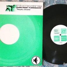 Discos de vinilo: LP JAMIE LEWIS & NICK MORRIS - PEOPLES GROOVE - ¡UNICO ENVIO A FINAL DE MES!. Lote 218877561
