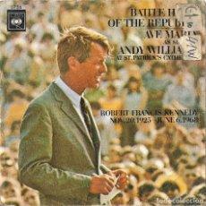 Discos de vinilo: ANDY WILLIAMS - HIMNO DE BATALLA DE LA REPUBLICA + AVE MARIA SINGLE RARO SPAIN 1970. Lote 218880208