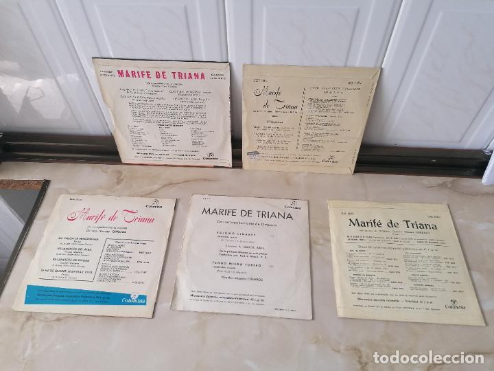 Discos de vinilo: Marife de Triana lote single Columbia villancicos la luna y el toro en el quicio de mi puerta - Foto 2 - 218889378