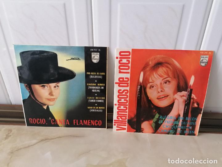 ROCÍO DURCAL CANTA FLAMENCO VILLANCICOS PHILIPS LOTE SINGLE (Música - Discos - Singles Vinilo - Solistas Españoles de los 50 y 60)