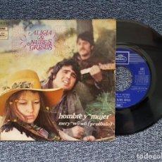 Discos de vinilo: ALICIA & NUBES GRISES - HOMBRE Y MUJER / PRUÉBALO. EDITADO POR EMI. AÑO 1.970. Lote 218899787